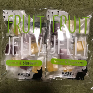 カルディ(KALDI)の新品 カルディ 猫の日バック フルーツジュレ レモン&ブルーベリー 2点(菓子/デザート)