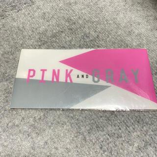 ピンクとグレー チケットホルダー(クリアファイル)