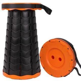 折りたたみ椅子 チェア アウトドア チェア キャンプ椅子【オレンジ】(折り畳みイス)