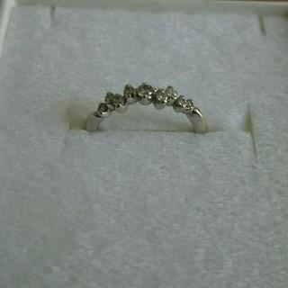 K18WG ダイヤモンド ピンキーリング(リング(指輪))