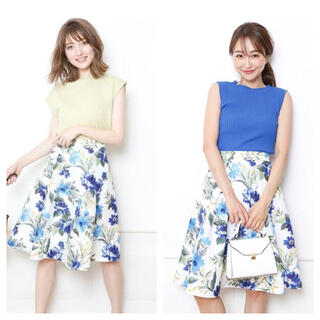 Rirandture - 新品 リランドチュール オータムボタニカルフラワースカート 花柄スカート ブルー