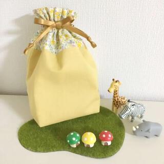 花柄巾着 コップ入れ 給食袋 サニタリーポーチ(外出用品)