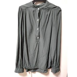 GAP - GAP ノーカラーシャツ カーキ XXS