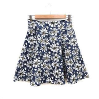 トランテアンソンドゥモード(31 Sons de mode)のトランテアンソンドゥモード 花柄 スカート ネイビー(ミニスカート)