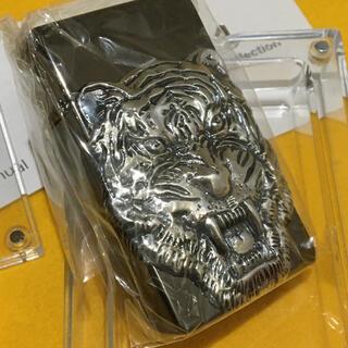 ジッポー(ZIPPO)のSAROME ブラックニッケル ビッグタイガーSRMスーパーターボライター 新品(タバコグッズ)