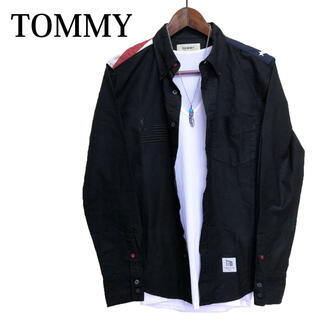 トミー(TOMMY)のTOMMY 長袖シャツ カジュアルシャツ ボタンダウンシャツ黒(シャツ)