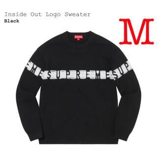 シュプリーム(Supreme)のsupreme Inside Out Logo Sweater 黒 Mサイズ(スウェット)
