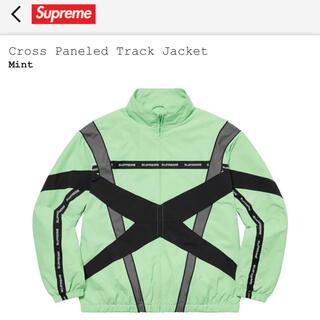 シュプリーム(Supreme)のsupreme Cross Paneled Track Jacket サイズS(ナイロンジャケット)