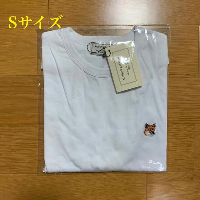 MAISON KITSUNE'(メゾンキツネ)のメゾンキツネ フォックスヘッドパッチ Tシャツ 白 Sサイズ メンズのトップス(Tシャツ/カットソー(半袖/袖なし))の商品写真