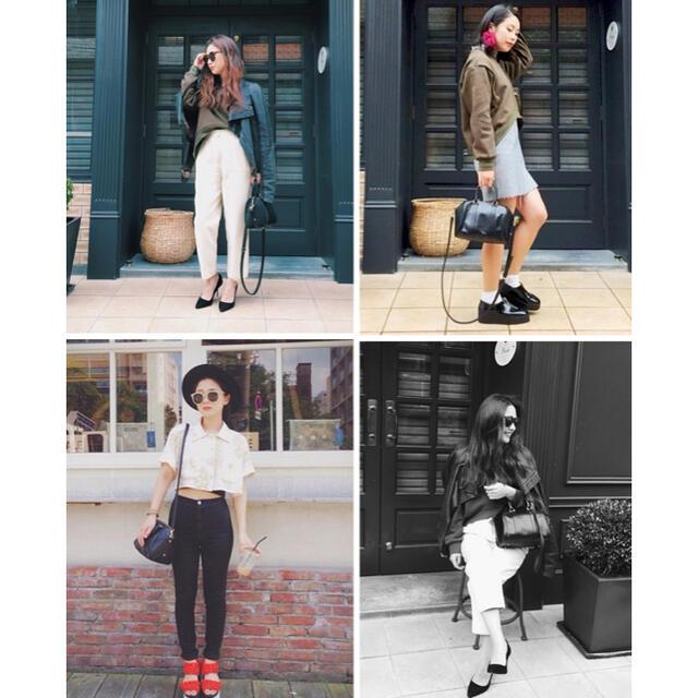 URBANBOBBY(アーバンボビー)のURBANBOBBY ショルダー付きミニボストンバッグ 本革 黒 BAG レディースのバッグ(ショルダーバッグ)の商品写真