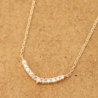 アガット(agete)のアガット 三日月 K18 ダイヤモンド YG ネックレス  イエローゴールド(ネックレス)