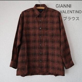 ジャンニバレンチノ(GIANNI VALENTINO)の【美品】GIANNI VALENTINO メンズ チェックシャツ ブラウス(シャツ/ブラウス(長袖/七分))