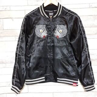 カズロックオリジナル(KAZZROCK ORIGINAL)のkazzrock original カズロック スカジャン オオカミ 刺繍 M(スカジャン)