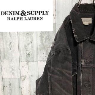 デニムアンドサプライラルフローレン(Denim & Supply Ralph Lauren)のラルフローレン ダメージ加工デニムジャケット クラスト クラッシュ Gジャン(Gジャン/デニムジャケット)