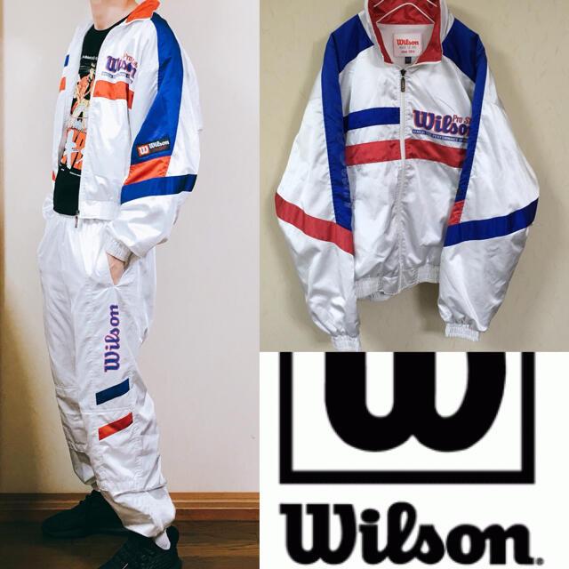 wilson(ウィルソン)の90's Wilson ウィルソン ナイロンジャケット  セットアップ メンズのジャケット/アウター(ナイロンジャケット)の商品写真