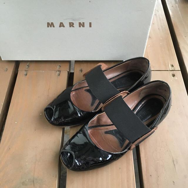 Marni(マルニ)のMARNI マルニ パテントレザー フラットシューズ レディースの靴/シューズ(バレエシューズ)の商品写真