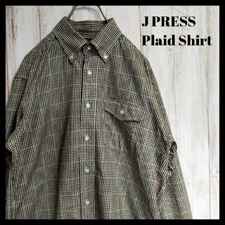 J.PRESS - J Press チェックシャツ 厚手 ウールシャツ