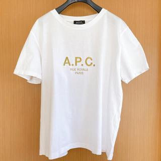 アーペーセー(A.P.C)のあつこ様 A.P.C GOLD刺繍 T  shirt(Tシャツ(半袖/袖なし))