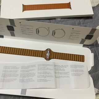 Apple Watch - Apple Watch 42/44mm用 サドルブラウン レザーリンク