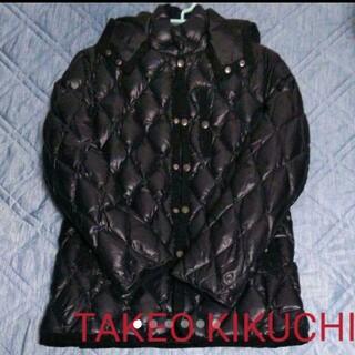 タケオキクチ(TAKEO KIKUCHI)のタケオキクチ ダウンジャケット 黒 Sサイズ(ダウンジャケット)