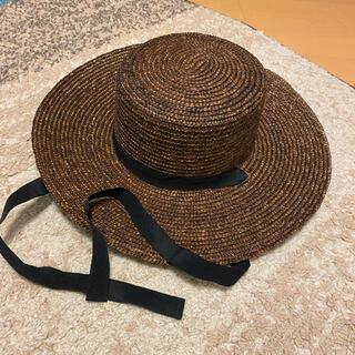 MURUA - MURUA リボン付き 麦わら帽子  新品未使用