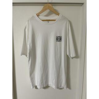ロエベ(LOEWE)の国内正規品美品ロエベ 半袖Tシャツ白Lアナグラム(Tシャツ/カットソー(半袖/袖なし))
