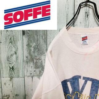 アンソフィーバックバック(ANN-SOFIE BACK/BACK)のソフィー スウェット ホワイト フロントプリント ビッグサイズ USA製(スウェット)