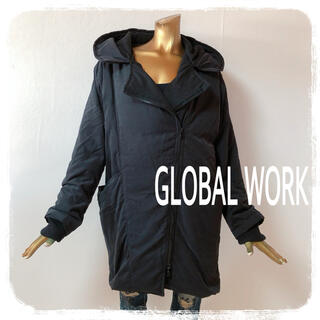 GLOBAL WORK - GLOBAL WORK ♥ フード付き デザイン ダウンコート
