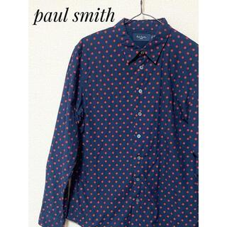 ポールスミス(Paul Smith)のPaul Smith ポールスミス ドット柄刺繍入り 長袖シャツ M(シャツ)