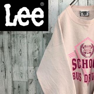 Lee リー USA製 ビッグサイズ 裏起毛 プリントロゴ