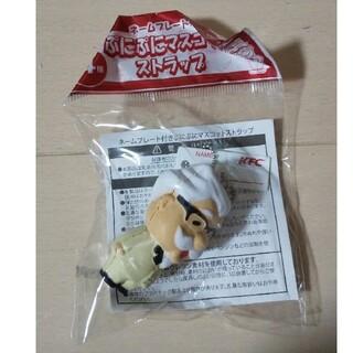 新品  ケンタッキーフライドチキン  ぷにぷに  マスコット  ストラップ(ノベルティグッズ)