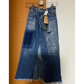 ゴートゥーハリウッド(GO TO HOLLYWOOD)のgo to hollywood  デニムフレアチョースカート 140 未使用(スカート)