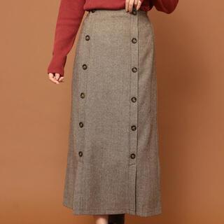 グリーンパークス(green parks)のグリーンパークス●RAY CASSIN ツイードダブルボタンスカート(ロングスカート)