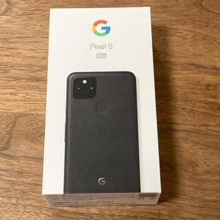 Google Pixel - Google Pixel5  JUST ブラック BLACK SIMロック解除