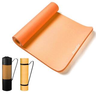 ヨガマット 8mm エクササイズマット オレンジ(ヨガ)