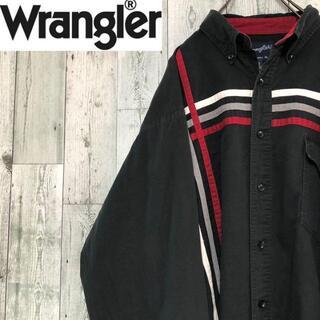 ラングラー(Wrangler)のラングラー ラインBD長袖シャツ ビッグサイズ ゆるだぼ 黒 コットン(シャツ)