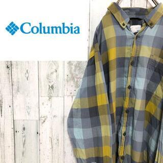 Columbia - コロンビア 長袖BDシャツ ビッグサイズ ブロックチェック ワンポイントロゴ