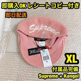 シュプリーム(Supreme)のピンク XL シュプリーム カンゴール ハットKangol(ハンチング/ベレー帽)
