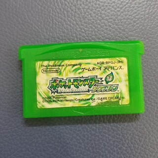 GBA ソフト ポケットモンスター リーフグリーン(携帯用ゲームソフト)