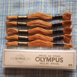 刺繍糸 色番号 711 オリムパス 5本