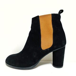 ツモリチサト(TSUMORI CHISATO)のツモリチサト ショートブーツ 23 1/2 黒(ブーツ)