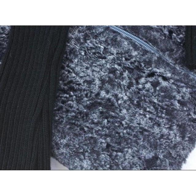 LAUTREAMONT(ロートレアモン)の美品☆LAUTREAMONT(ロートレアモン)切替ジップアップニットジャケット☆ レディースのジャケット/アウター(その他)の商品写真