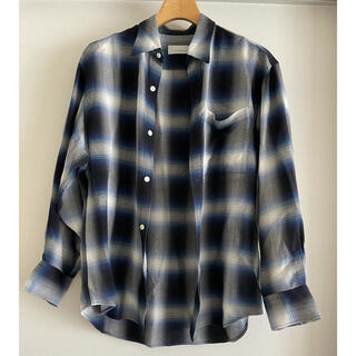 フィーニー(PHEENY)のpheeny  フィーニー オンブレチェックシャツ BLUE(シャツ/ブラウス(長袖/七分))