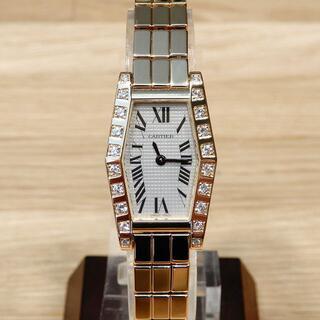 Hermes - 超美品 カルティエ 研磨済み ヘキサゴンラニエール ベゼルダイヤ YG 時計