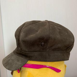ヘレンカミンスキー(HELEN KAMINSKI)のヘレンカミンスキー レザー 帽子 キャスケット(ハット)