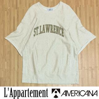 アメリカーナ(AMERICANA)のアパルトモン アメリカーナ 3/4 Sleeve Sweat スウェット コラボ(トレーナー/スウェット)