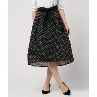 アナイ(ANAYI)のANAYI アナイ スターモチーフジャガード素材スカート フレアスカート(ひざ丈スカート)