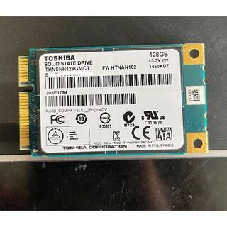 トウシバ(東芝)の①TOSHIBA  SSD128GB THNSNH128GMCT mSATA(PCパーツ)