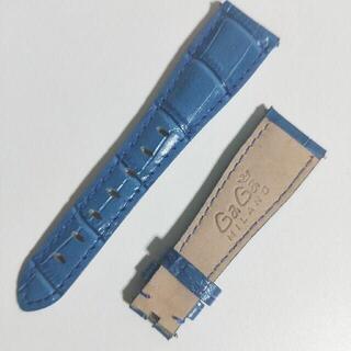 ガガミラノ(GaGa MILANO)のガガミラノ 交換ベルト 青 ブルー(腕時計)