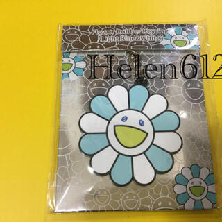 Flower Rubber Keyring Light Blue&White(キーホルダー)